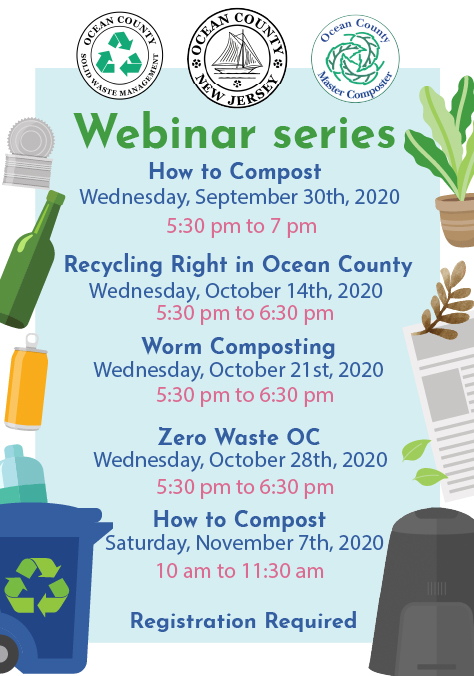 Webinar Series from September 30th to November 7th Webex